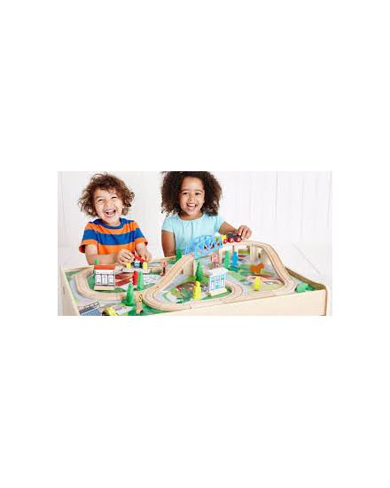 ELC Small City Wooden Rail Play Table