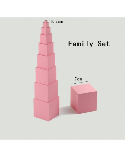 Montessori Pink Tower Cubes