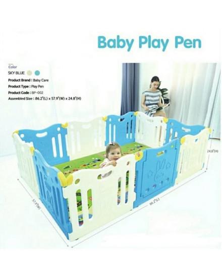 Comflor Safety Gate Playpen - Sky Blue