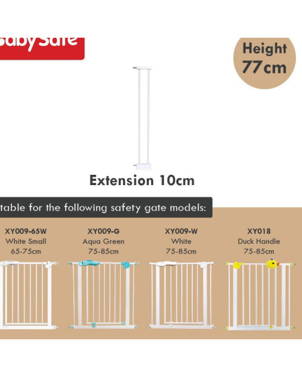 Baby Safe Safety Gate Pagar Extension 10 cm