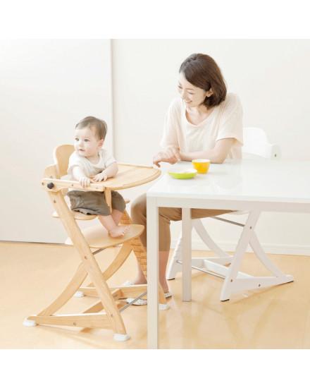 Yamatoya Sukusuku High Chair plus Table - Light Brown