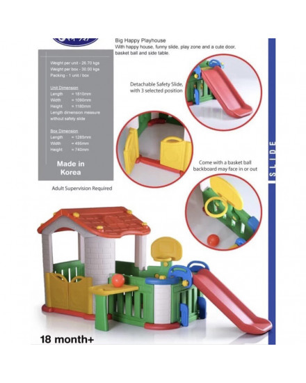 Tobebe Big Happy Playhouse (with 3 Play Activities)