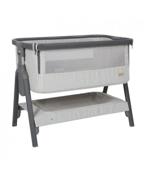 Tutti Bambini CoZee Bedside Crib - Silver