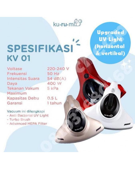 Kurumi UV Vacuum Cleaner KV 01 Red