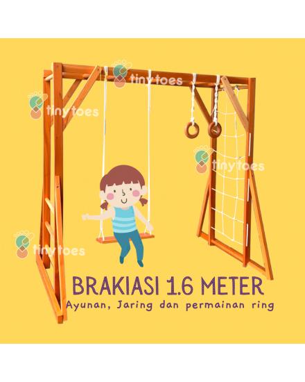 Brakiasi Monkey Bar 1.6m (dgn aksesoris )