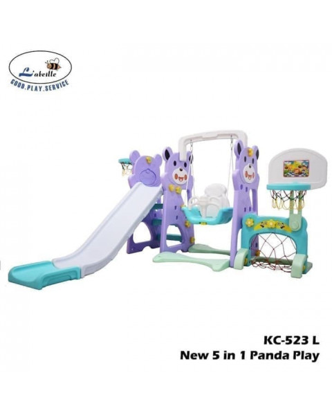 Labeille Panda 5 in1 Slide & Swing Grow Activity - Purple
