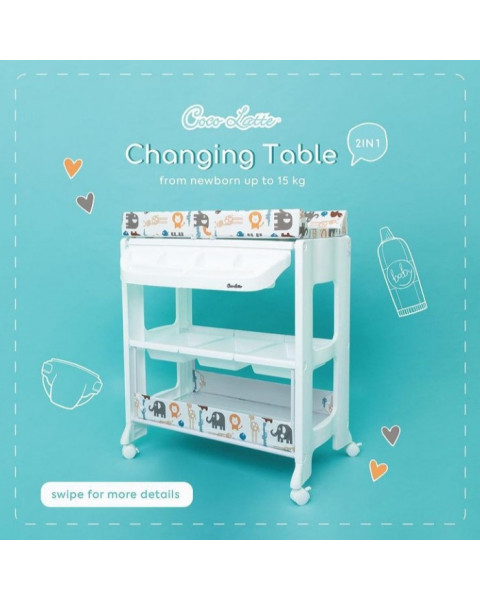 Cocolatte Baby Tafel Bath and Changing Table - animal