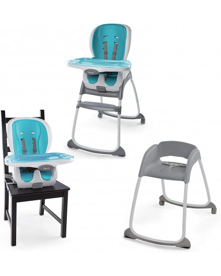 Ingenuity Trio 3-in-1 Smart Clean High Chair - Aqua Blue