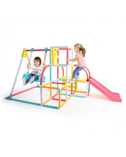 Grow n Up 4-in-1 Climb and Slide Activity Swing Set