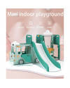 Happy Play Tayo Bus Slide Swing 3 in 1 - Green