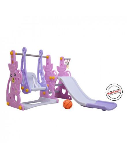 Labeille Luxury Kangaroo Slide and Swing - Pink Kangaroo