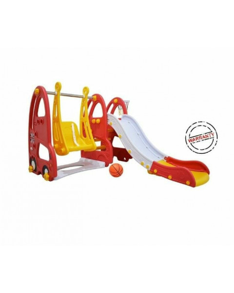 Labeille Luxury London Bus Slide and Swing - Red