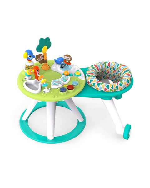 Bright Starts Around We Go 2in1 Baby Walker n Activity Table - Green Tosca